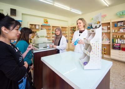 Sala de prácticas de farmacia